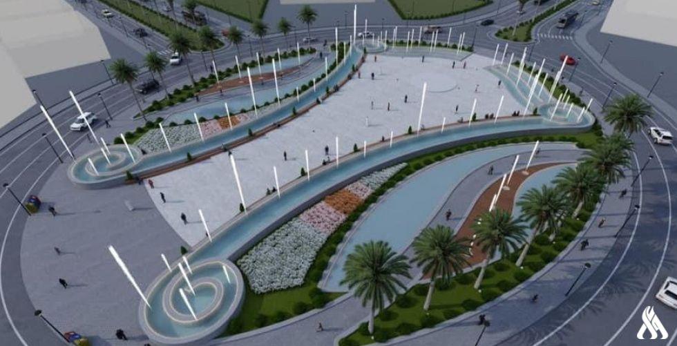 بالصور .. رابطة المصارف الخاصة تقدم تصميماً جديداً لساحة الفردوس