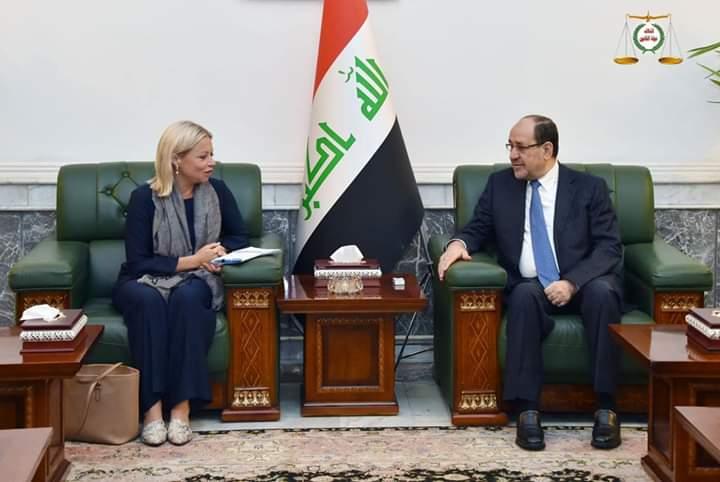 رئيس ائتلاف دولة القانون السيد نوري المالكي يستقبل ممثلة الامين العام للأمم المتحدة في العراق