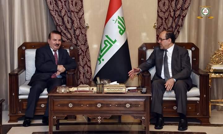 رئيس ائتلاف دولة القانون السيد نوري المالكي يستقبل وزير الداخلية