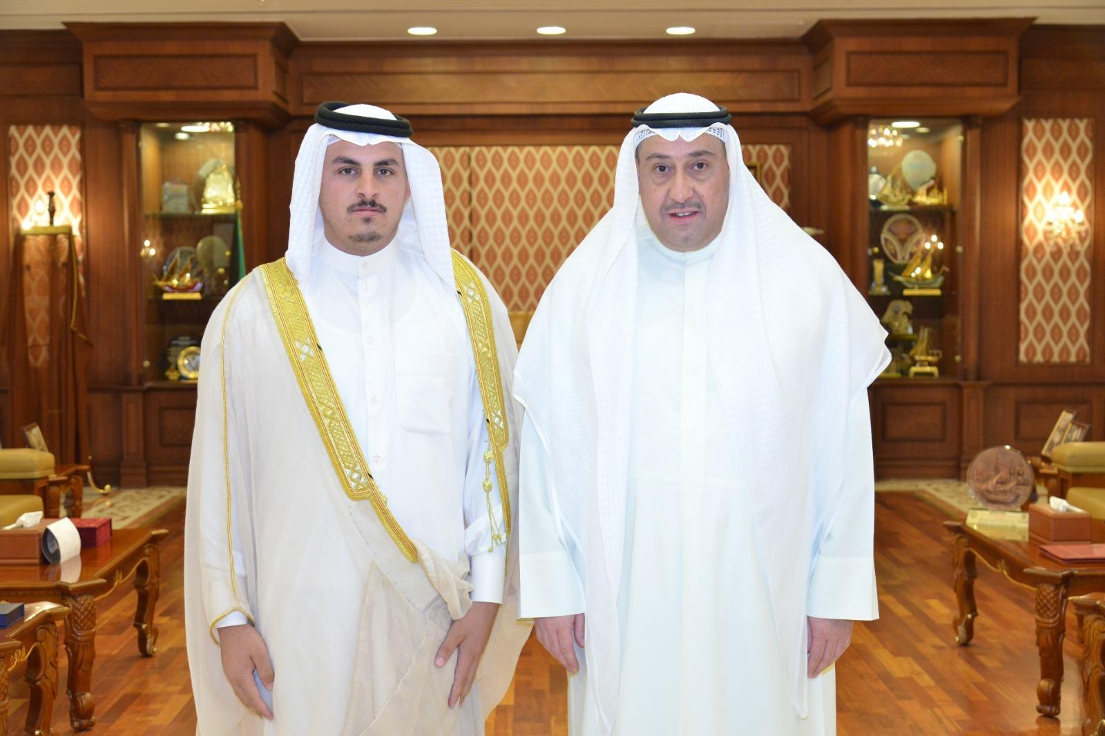 الشيخ فيصل الحمود : يستقبل الشيخ مسعد ال حبيّب الغزي من الناصرية بجمهورية العراق