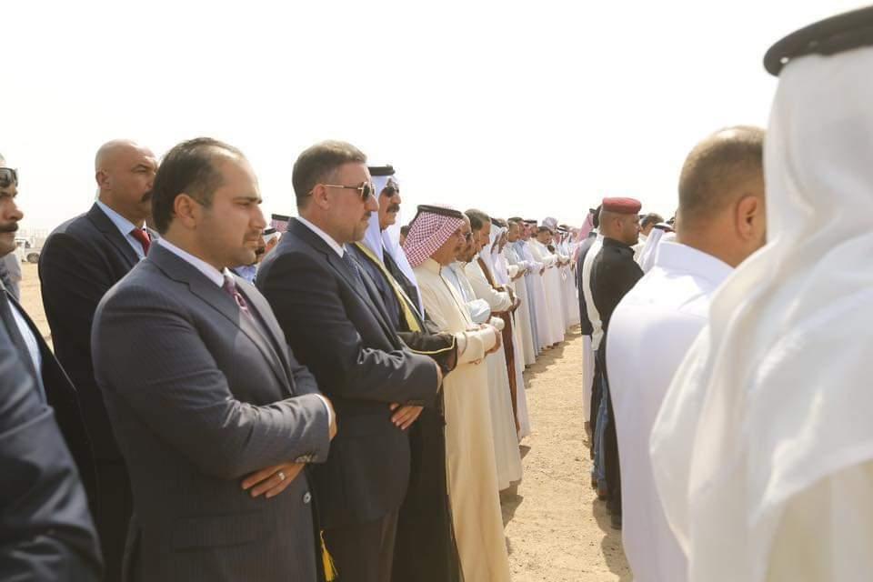الشيخ خميس الخنجر يحضر مراسم تشييع الشيخ راجع بركات العيفان
