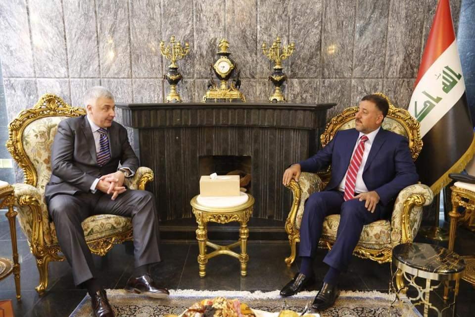 الشيخ خميس الخنجر يستقبل سفير جمهورية روسيا الاتحادية لدى العراق
