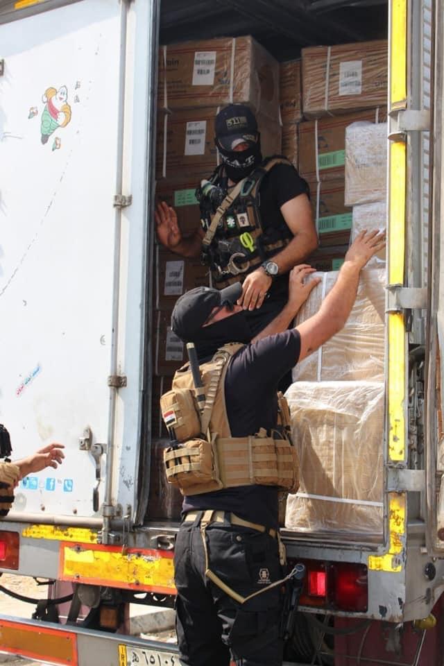 خلية الصقور الاستخبارية تحبط عملية تهريب أدوية فاسدة عبر مطار النجف
