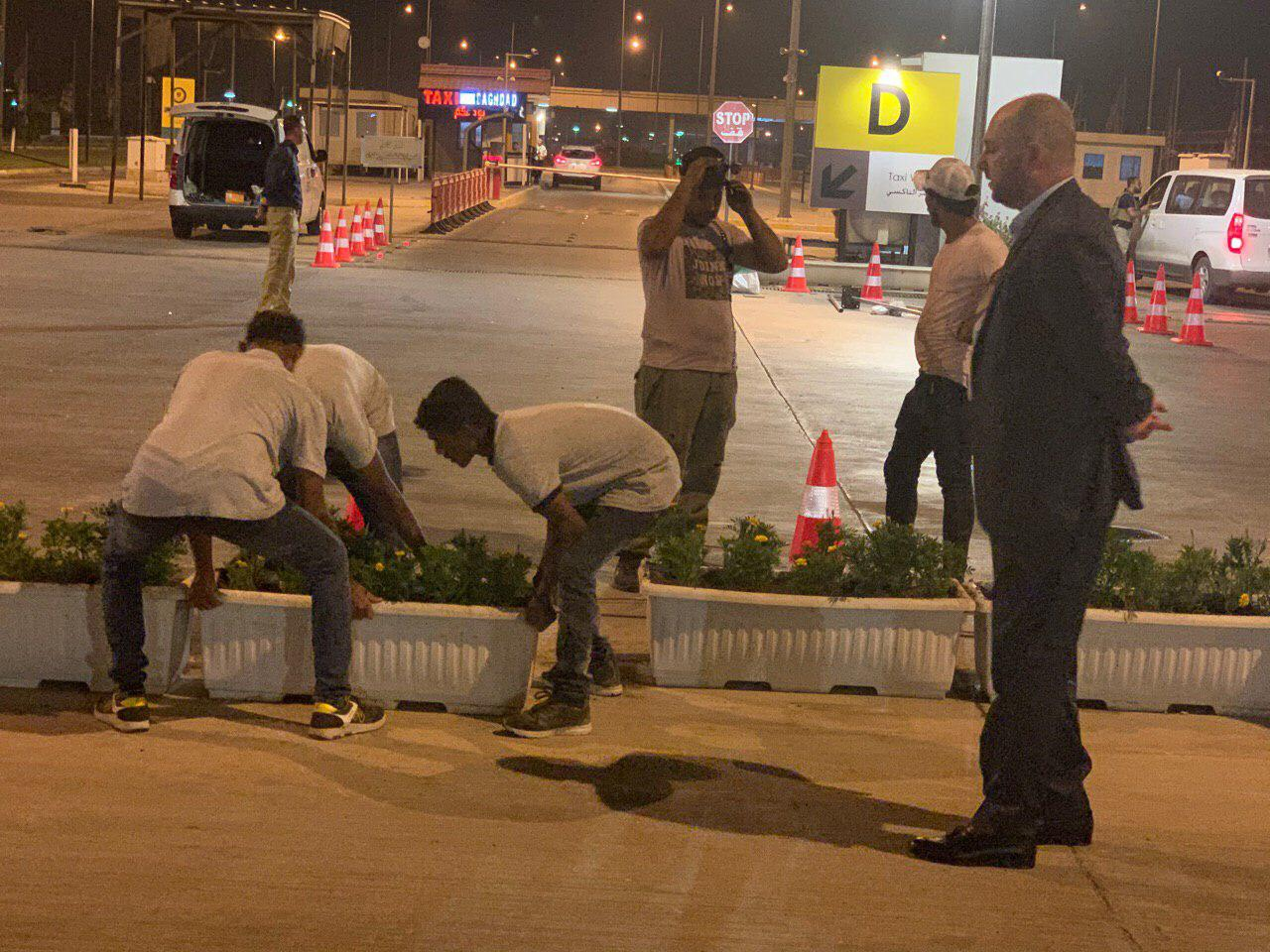 اعادة تاهيل بوابات مطار بغداد من قبل ادارة المطار