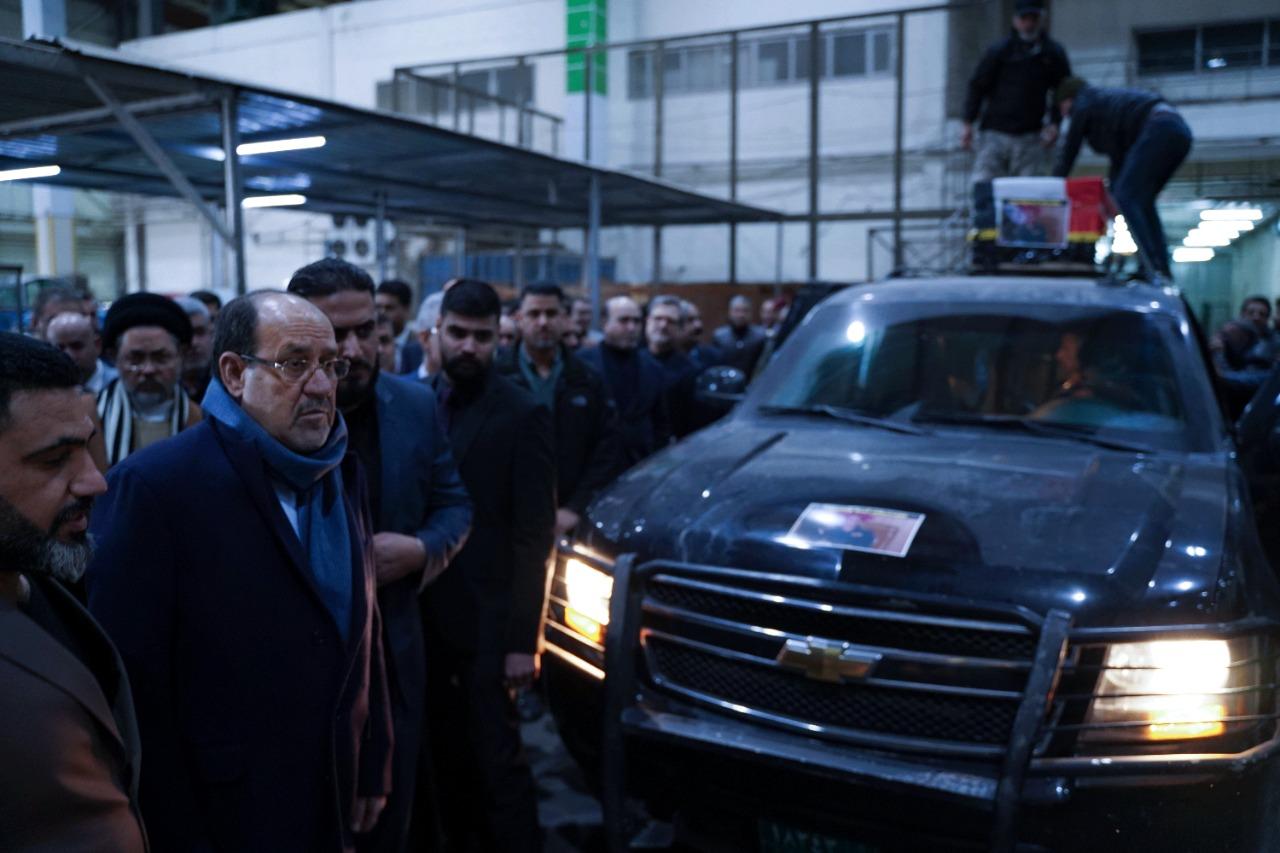 تشييع امر لواء 52 بحضور رئيس ائتلاف دولة القانون