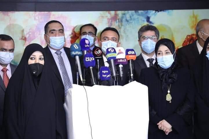 انعقاد اجتماع مشترك بين لجنة الصحة والبيئة النيابية والسيد وزير الصحة والبيئة حول مستجدات الواقع الصحي في العراق ومواجهة جائحة كورونا
