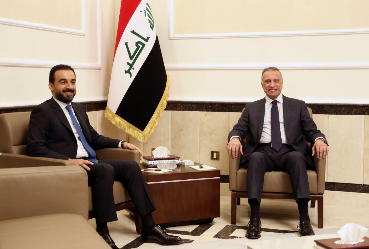 رئيس مجلس الوزراء السيد مصطفى الكاظمي يبحث مع رئيس مجلس النواب تكامل العمل والتنسيق بين السلطتين التنفيذية والتشريعية
