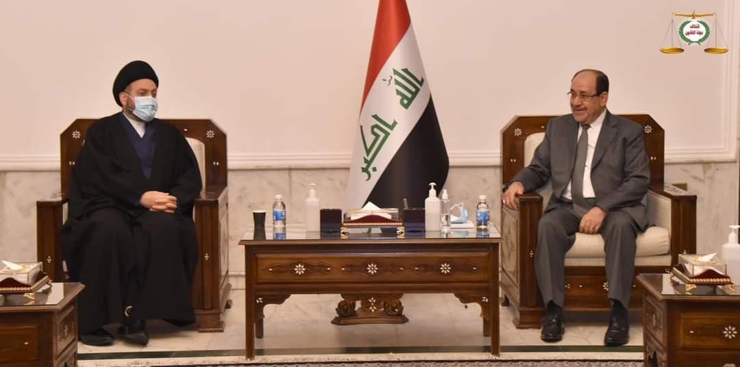 زعيم دولة القانون السيد نوري المالكي يستقبل رئيس تيار الحكمة السيد عمار الحكيم حول اجراء انتخابات مبكرة ونزيهة وشفافة
