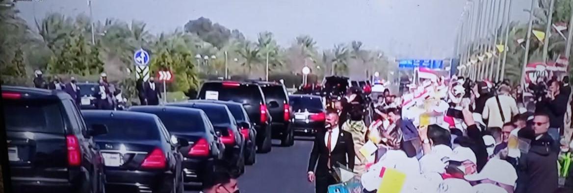 استقبال رسمي وشعبي كبيرين للبابا فرنسيس يتقدمه السيد الرئيس الكاظمي