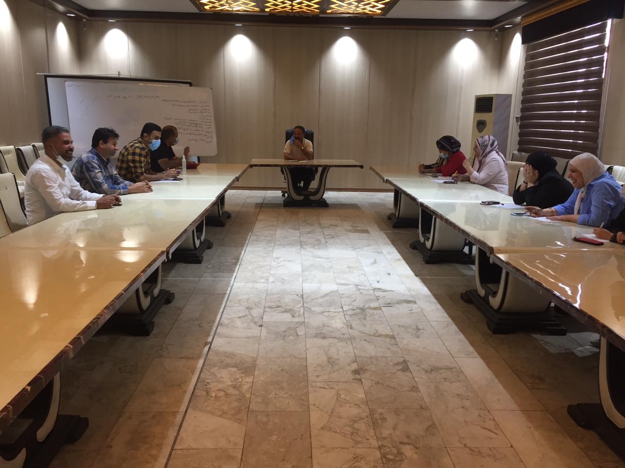 شركة المعارض العراقية تعقد اجتماعا لبحث فعالية التدقيق الداخلي للجودة