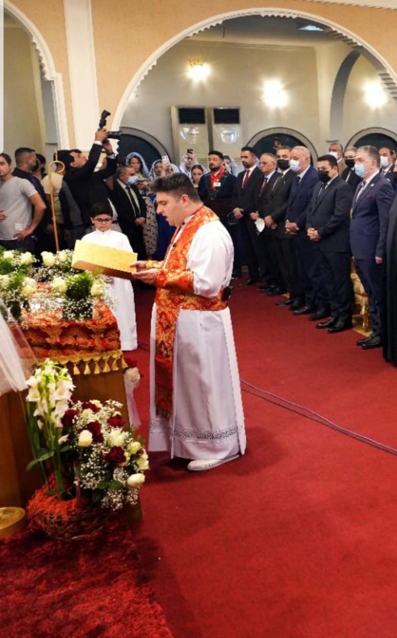 السيد الاعرجي يحضر مراسيم تكريس الأب دانيال الخوري أسقفا على العراق
