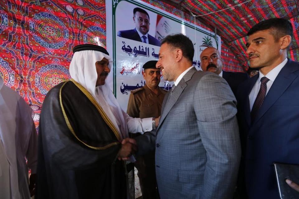 الشيخ خميس الخنجر يحتفل مع اهله في عامرية الصمود