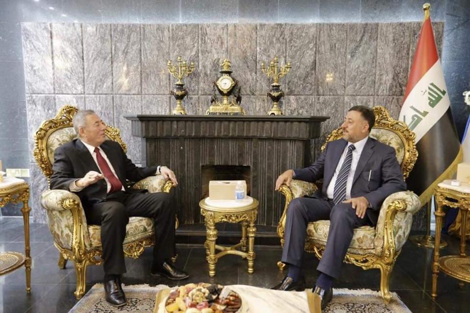 الشيخ خميس الخنجر يستقبل سفير المملكة الاردنية الهاشمية لدى العراق